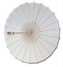 10x White Paper Umbrellas Wedding Party Parasols D13398-1 S-2194x10