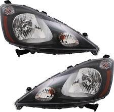 Headlights Headlight Assembly (w/Bulb) NEW Pair Set for 12-14 Honda FIT Sport