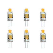 6x LED G4 COB 1W 12V warmweiß 2700K 100lm Ersatz f. Halogenleuchtmittel 10W 360°