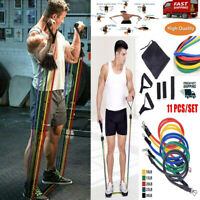 11Pcs Resistance Bands Set Yoga Crossfit Fitness Exercise Tube Workout Men Women