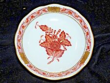 "Rare HEREND 3 5/8""  CHINESE BOUQUET Rust COASTER (s) 337/AOG HTF EUC"
