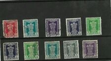 10X  1939 INDIA STAMPS MOUNTED ON BLACK STOCKARD
