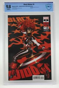 Black Widow (2021) #9 Captain America 80th Anniversary CBCS 9.8 Blue Lbl WH Pgs