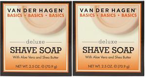 Van Der Hagen Basics, Deluxe Shave Soap, 2.5 oz (2 Pack)