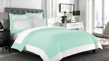 US Full 1000 TC Egyptian Cotton 1 PC Reversible Comforter With White Pillow Case