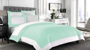 1000 TC Egyptian Cotton 200 GSM 5 PC Reversible Comforter Set US Sizes & Colors