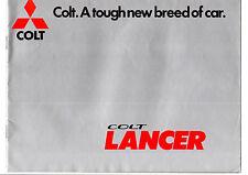 1977/1978 MITSUBISHI COLT LANCER 1200/1400/1600 DL,GL,SL RANGE SALES BROCHURE