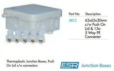 65mm x 65mm x 30mm PVC Junction Box Waterproof IP44 with Terminal Block Plastic