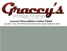 -Inca Silver- Gracey's Vintage Finishes Nitrocellulose Guitar Lacquer Aerosol.