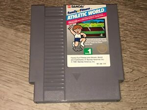 Athletic World 5 Screw Series 1 Nintendo Nes Cleaned & Tested Authentic