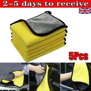 5Pcs Car Wash Cloth Microfibre Super Absorbent Polishing Cleaning towels Drying