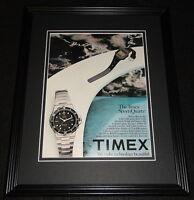 1982 Timex Sports Quartz Watch 11x14 Framed ORIGINAL Vintage Advertisement