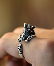 Giraffe Ring, Antique Silver Ring, Animal Ring, Adjustable Ring AR-37