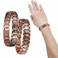 Mens Women Magnetic Therapy Bracelet Arthritis Pain Relief Pure Copper Bangle US