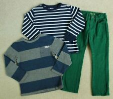 Boys Baby Gap Blue Striped Navy Blue Striped Shirt Green Jeans Pants 4 4T
