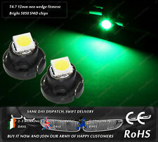 LED 12mm T4.7 Neo Wedge Green Dashboard Bulbs Cluster Speedometer Lights 12V