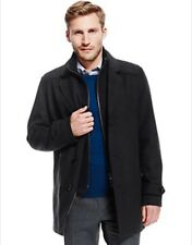 BNWT M&S Collection Double Collar Coat with Wool - Charcoal in Size Medium