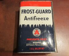 VINTAGE FROST GUARD ANTIFREEZE GALLON CAN OPEN TOP FOR STORAGE,TRASH CAN MORE !!