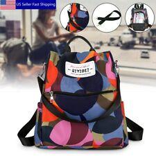 Women Waterproof Anti-theft Nylon Backpack Daypack Rucksack Travel Shoulder