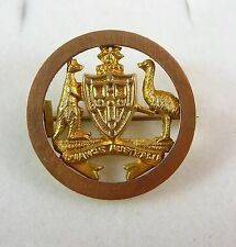 WONDERFUL ANTIQUE  9CT/K GOLD  WILLIS ADVANCE AUSTRALIA COAT OF ARMS BROOCH PIN