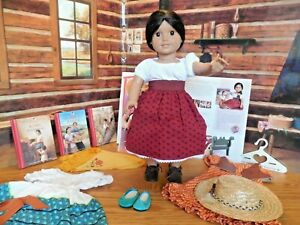 "EUC American Girl/Pleasant Company 18"" Josefina Doll w Extra Outfits*Shawl*Books"