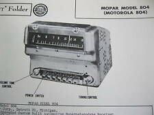 1948, 1949,1950 CHRYSLER, PLYMOUTH, DODGE, DESOTO 804 MOPAR RADIO PHOTOFACT