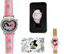 Snow White Disney Princess Watch Pink Band with Crystal New