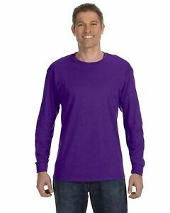 Gildan Heavy Cotton Men's Long Sleeve T Shirt Blank Plain Tee Basic 5400 S-3XL