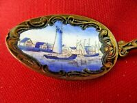 Lot 18 of 35 - Collector Spoons  Blue Enamel Sailing Ships Ornate Czechoslovakia
