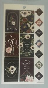 Happy Planner Flowers Boxes The Best Day Be A Light stickers MAMBI 262279