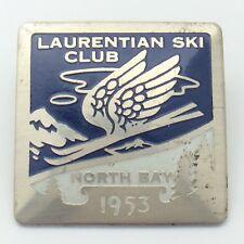 Laurentian Ski Club Ski Hill North Bay Ontario 1953 Blue Pin G103