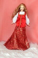 Princess of Imperial Russia Barbie Doll Movie Star Look in Long Red Outfit Kids