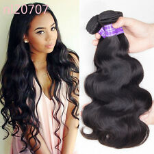 4 Bundles Human hair extensions Unprocessed body wave Peruvian virgin weft 200g