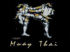 Ultimate Combat Muay Thaï Mma or Film Fighters -noir M T-Shirt - Y1042