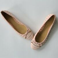 Talbots Pink Laser Cut Woven Flats Loafers Shoes Ballet Flats Size 9.5