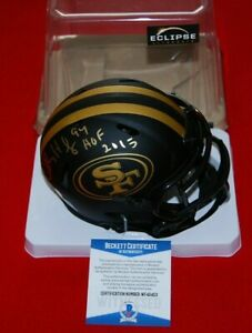 CHARLES HALEY 49ers signed Eclipse Mini Helmet Beckett HOF 2015 COA