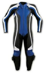 1 pc Motorcycle Motorbike CE Armours Jacket Trouser Leather Suit A-Pro Blue