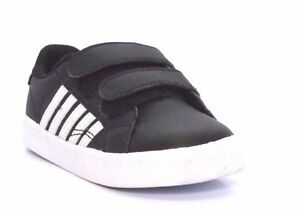 K-SWISS 23532-088 BELMONT SO STRAP Inf's (M) Black/White Leather Casual Shoes