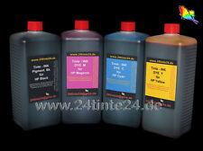 4 x 1 L litri inchiostro CISS CFS CIS HP 10 11 12 13 82 88 15 78 1l INK DYE PIGMENT