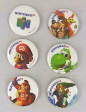 Nintendo 64 Pin Back Button Set - Banjo Kazooie, Yoshi, Kong, Mario, Link 1998