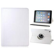 WHITE  360° Rotating iPad MINI 2 RETINA SMART PU Leather Cover Case + Protector