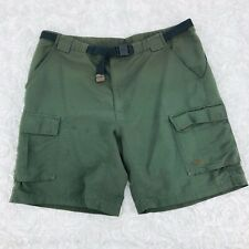 The North Face Cargo Shorts Mens SZ XL Buckle Waist Olive Green Hiking