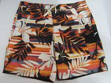 Speedo Swimwear Lined Trunks Orange Floral Size 42