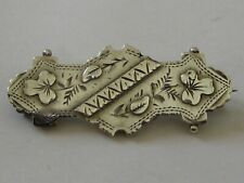 Sterling Silver Victorian S.R Brooch No Reserve Fine Vintage/Antique Solid
