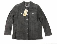 NWT DENNIS By DENNIS Black 100% Genuine Leather Jacket Size XL Black Western