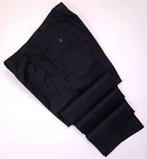 Hugo Boss Gray Pants 35x31 Flat Front Sharp1 Trouser Virgin Wool Mens Size Pant