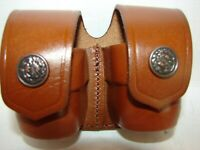 Small Double BROWN speed loader pouch for 5 / 6 round speed loaders