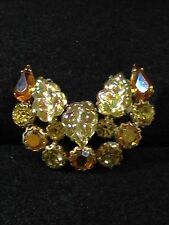Vintage Weiss Rhinestone Brooch Prong Set Signed