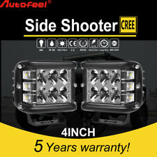 "2PCS 4""INCH 276W LED Light Bar Spot Flood Pods Lights Off-Road Tractor 4WD 12V"