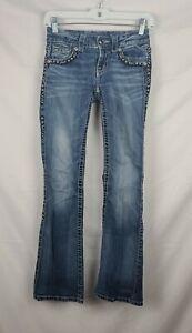 Miss Me Women's Embellished Studded Blue Denim Jeans sz 25